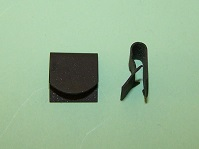 'D' type edge clip for 1.2 - 3.4mm material thicknesses. All BL Austin/Morris, Triumph, Rover , Saab and general application.
