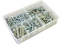 Box of Assorted Hex Set Screws (UNF) - High Tensile.  150 Pieces