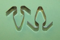 'V' spring moulding clip. Austin Cambridge and general application.