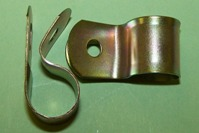 P'-Clip in zinc plated steel, 12.7mm x 4.8mm hole dia. General application.