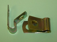 P'-Clip in zinc plated steel, 8.0mm x 7.1mm hole dia. General application.