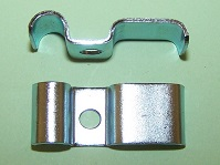 Brake Hardware- Twin Way Metal Brake Pipe clip. 3x 3/16