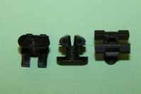 Moulding clip for  7.0mm moulding gap and window weatherstrip.  Ford Fiesta MK1 GL/Ghia.