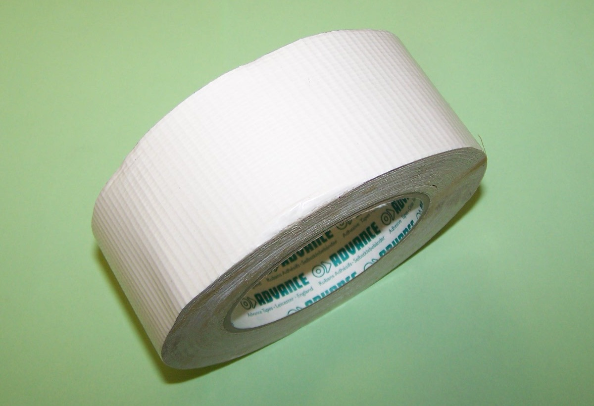 Limited White >> Bresco Vehicle Services Limited ADVANCE 'AT169' Polycloth Duct Sealing Tape (Gaffer) in white.